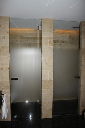 The Dolder Grand: Toilet to the Left and Shower to the Right