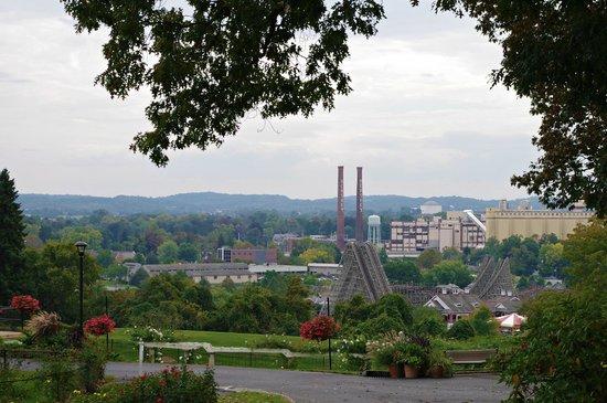 Hershey Gardens: The town of Hershey overlook