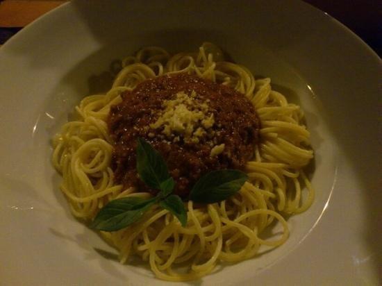 La Verandah Restaurant: superb spaghetti bolognese