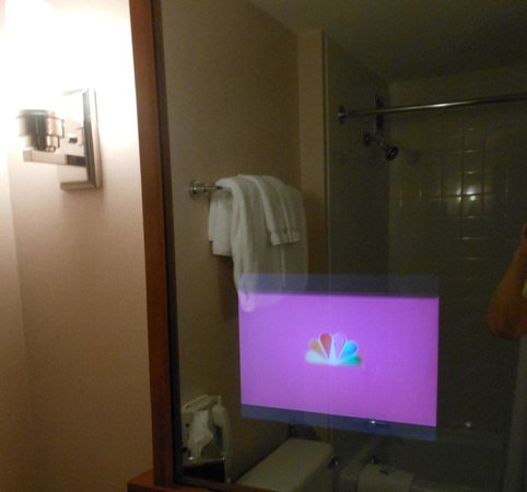 Charles Hotel:                   TV in the mirror in bathroom
