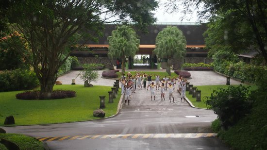 Club Med Bintan Island :                   Staff sending us off