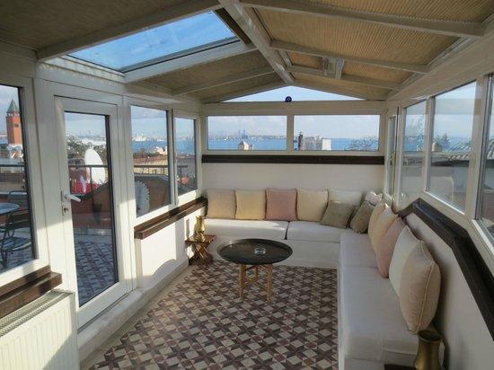 Stablesgate House & Studios: Atrium Roof Terrace