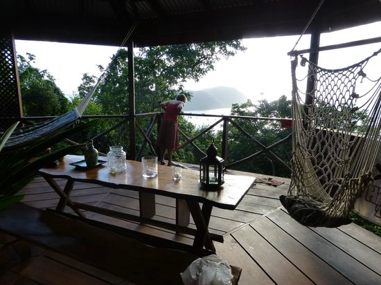 Manicou River:                   We watched great sunsets from our dining table