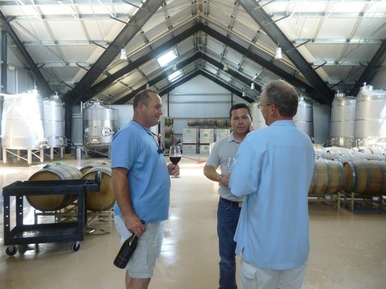 Venge Vineyards: Discussing using the 'egg' for the sauvignon blanc