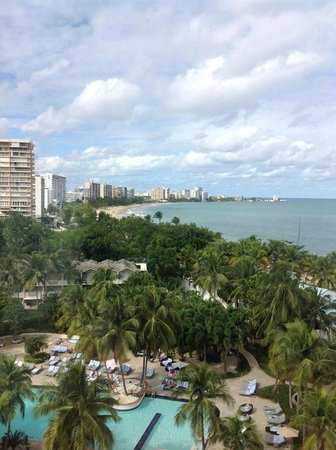 El San Juan Hotel, Curio Collection by Hilton: View from poolside, 9th floor room