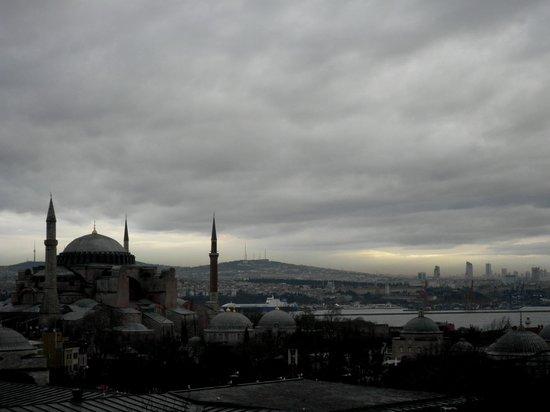 Deluxe Golden Horn Sultanahmet Hotel: Ausblick auf die Hagia Sofia