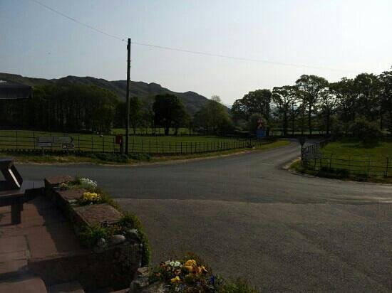 King George IV Inn: View from the pub along Eskdale to Boot.