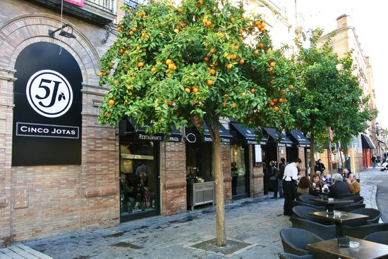 Calle castelar 1 fotograf a de restaurante cinco jotas for Calle castelar