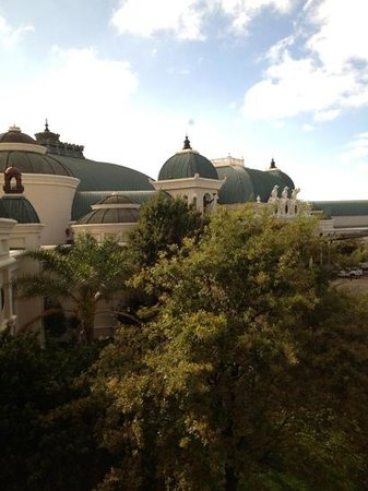 Peermont Mondior at Emperors Palace: the view from my hotel room of the main entertainment complex.