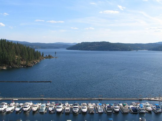 The Coeur d'Alene Resort:                   Lake View from Room