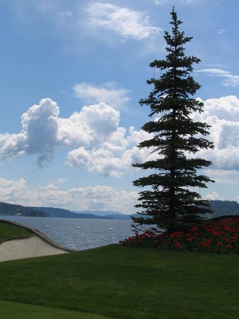 The Coeur d'Alene Resort:                   View from Golf Course