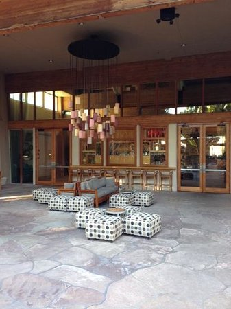 FireSky Resort & Spa:                   Outside the lobby they have fire pits and comfy chairs.