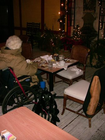 Bit O'Denmark Restaurant:                   Enclosed, heated patio available for families with dogs.