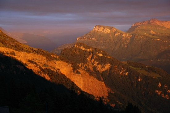 Hotel Edelweiss: Sonnenuntergang