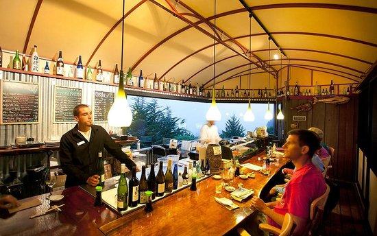 Treebones Resort Wild Coast Restaurant and The Sushi Bar : Ocean View sushi bar