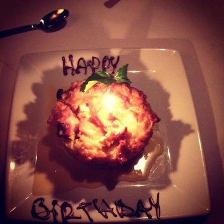 Ruth's Chris Steak House:                   FAMOUS BREAD PUDDING w/whiskey sauce...AMAZING!