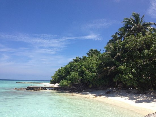 Makunudu Island:                   Beautiful beach