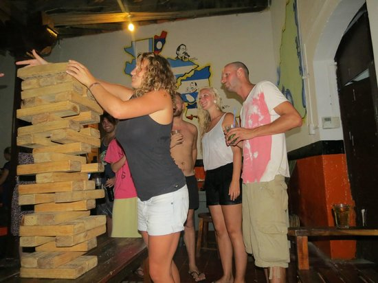 Bigfoot Hostel: The biggest jenga