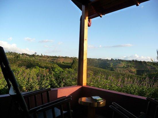 Hotel Mango Valley: Het uitzicht vanuit de wat duurdere huisjes
