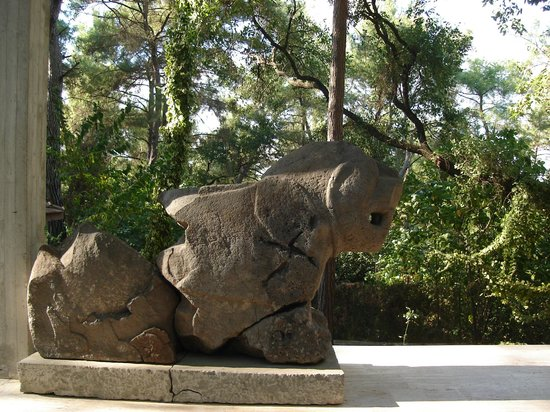 Osmaniye, Turquie : Müzede Sergilenen Aslan Figürü