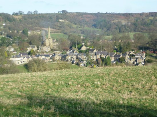The Old Poets' Corner : View of Ashover from on high