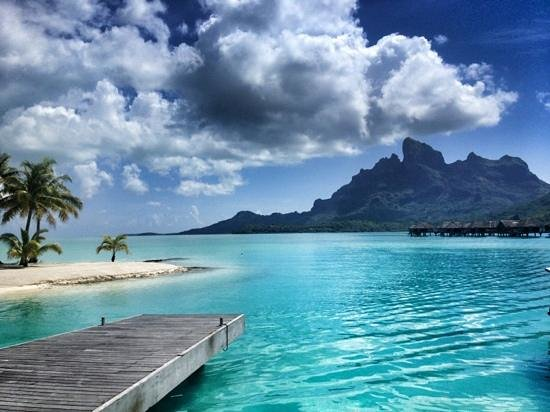 Four Seasons Resort Bora Bora:                   near the beach
