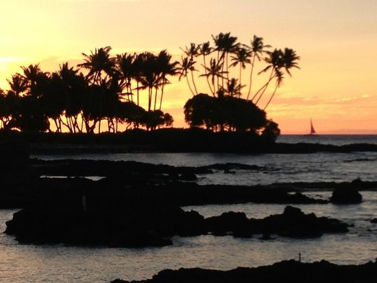 Fairmont Orchid, Hawaii: sunset from Brown's Restaurant