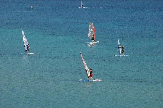Vassiliki Bay Villas: VASSILIKI BAY.....VIEW FROM VILLA....BEST WINDSURFING BEACH IN EUROPE