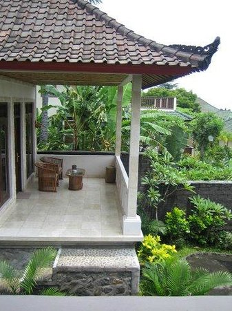 Double One Villas:                   porch with view