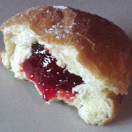 Donna's Donuts:                   Paczki... well... half of one (Yum)