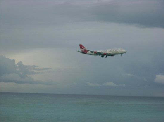 Sandals Inn:                   Virgin coming in for landing
