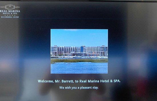 Real Marina Hotel & Spa:                   Welcome message
