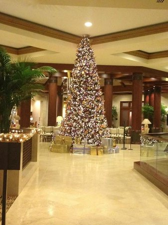 St. Regis Princeville Resort:                   Hotel Christmas Tree
