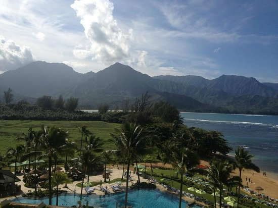 Princeville Resort:                   Pool and Beach