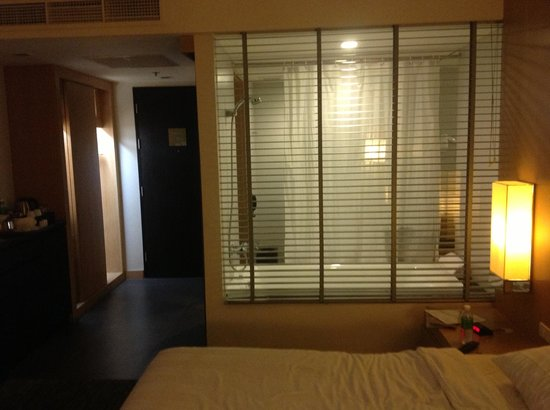 BEST WESTERN PREMIER Amaranth Suvarnabhumi Airport: Shower/Bath combo through the blinds