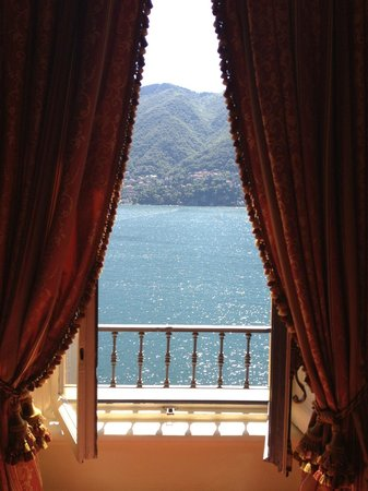 Villa d'Este:                   View from the room