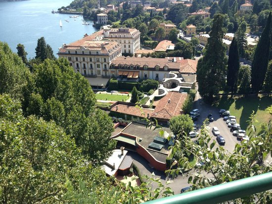 Villa d'Este:                   View of Hotel Grounds from Ruins next to Hotel