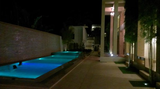 The District Boracay:                   pool at night