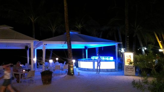 The District Boracay:                   outdoor dining at night