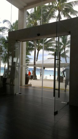The District Boracay:                   view from lobby