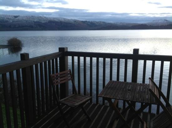 Lodge on Loch Lomond:                   view from balcony
