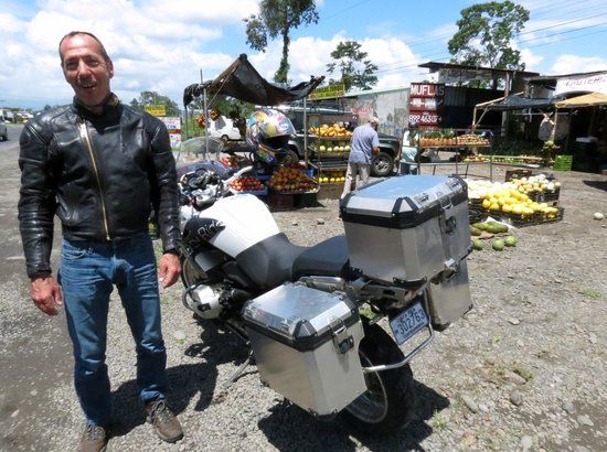 Costa Rica Motorcycle Tours:                   Roadside fruit stand