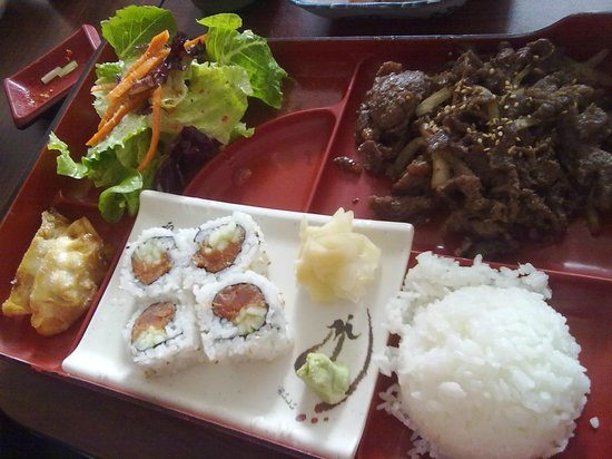 Sushi & Maki Restaurant:                   Bulgogi Bento with Sushi