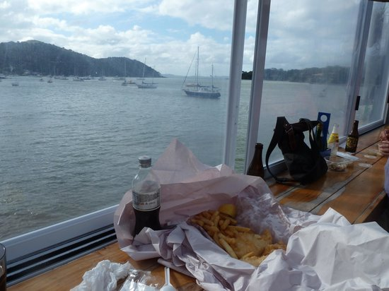 Mangonui Fish Shop:                   fish and chips