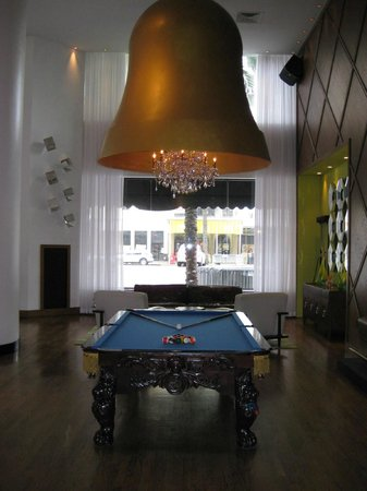 The Saint Hotel, Autograph Collection:                   Pool table in the lobby