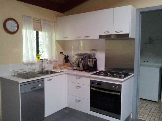 Bright Mystic Valley Holiday Units: The new kitchen, the coffee machine and grinder were mine