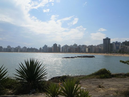 Vila Velha, ES: view from the north end of the beach