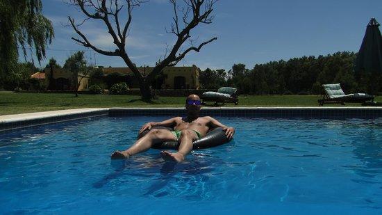 Casa Los Jazmines: En la piscina !