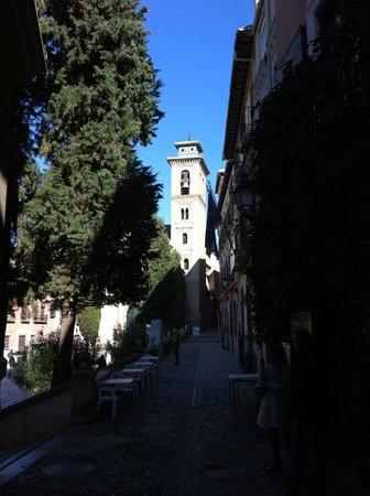 Casa Palacio Pilar del Toro Hotel: Foto tomada desde la puerta del hotel