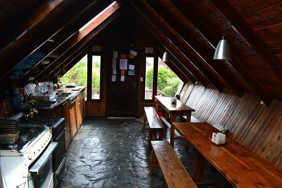 Alaska Hostel : Kitchen from common room